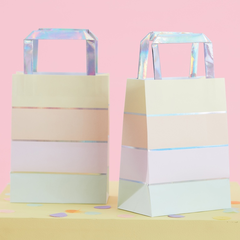 Papierové Tašky s Rúčkou - Pastelová Párty (5ks)