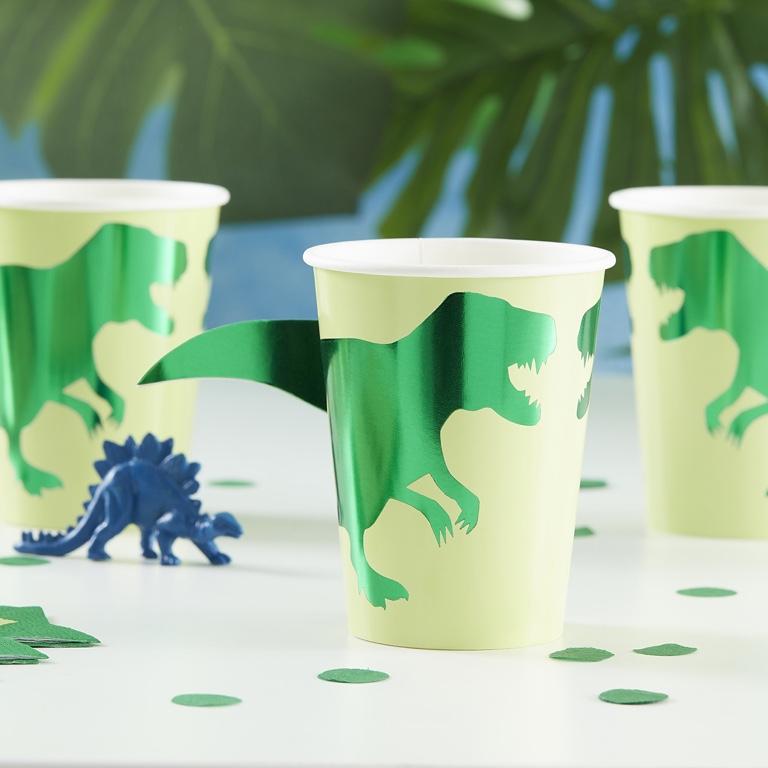Papierové Poháre - Dinosaury (8ks)