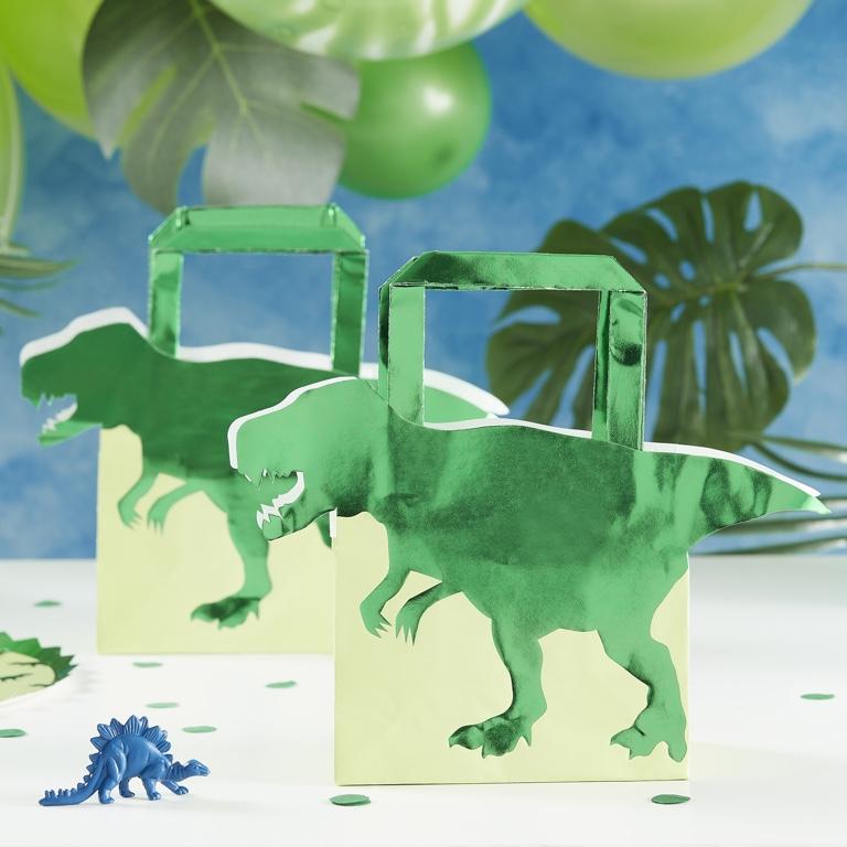 Papierové Párty Tašky - Dinosaury (5ks)