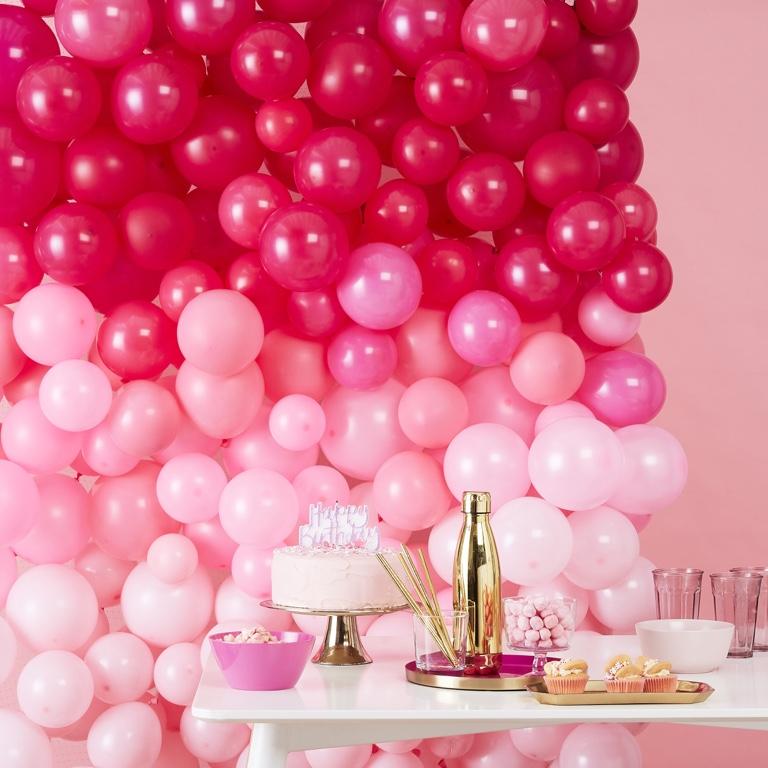 Balónová Stena - Ombre Ružová (210ks)
