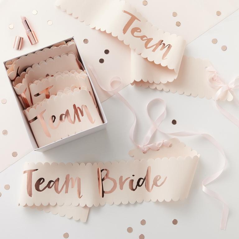 Šerpy pre Družičky - Team Bride (6ks)